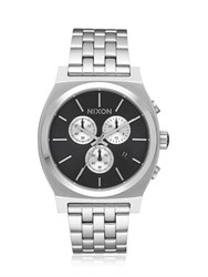 Nixon Time Teller Silver Finish Chrono Watch