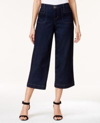 Styleandco. Style And Co. Utility Pocket Soft Rinse Wash Culotte Jeans Only At Macy's