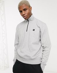 Element 92 Track 1 4 Zip Sweatshirt In Grey