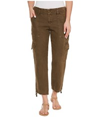 Sanctuary Terrain Linen Crop Pants New Brown Olive Women's Casual Pants