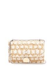 Jimmy Choo Finley Raffia And Leather Shoulder Bag White Multi