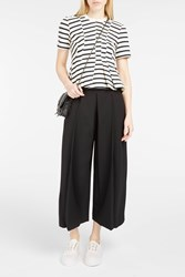 Alexander Wang T By Women S Peplum Hem Striped Top Boutique1 419 Ink And Ivory