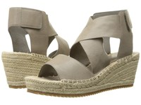 Eileen Fisher Willow Oyster Tumbled Leather Wedge Shoes Beige