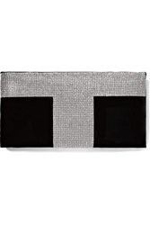 Tom Ford Crystal Embellished Velvet Clutch Black