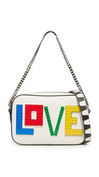 Les Petits Joueurs Exclusive Roy Black Widow Love Bag White Rainbow