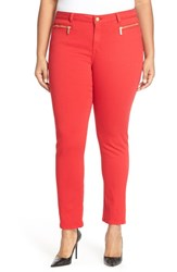Plus Size Women's Michael Michael Kors Zip Pocket Stretch Twill Skinny Pants