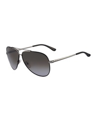 Salvatore Ferragamo Aviator Sunglasses Gunmetal Black