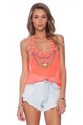 6 Shore Road Nuri Beaded Top Orange