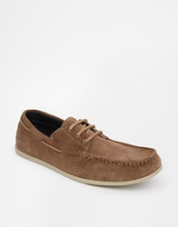 Jack And Jones Jack And Jones Suede Boat Shoes Brown