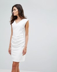 B.Young Gather Side Dress Off White
