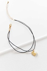 Urban Outfitters Corded Charm Anklet Black