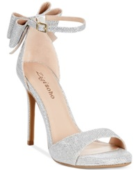 Zigi Soho Remi Two Piece Dress Sandals Women's Shoes Silver Meteor Glitter