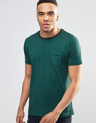 Ringspun Paulino Striped T Shirt Green