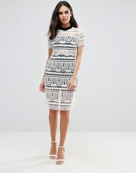 Goldie Perspective Empire Lace Dress With Lining Ivory Cream