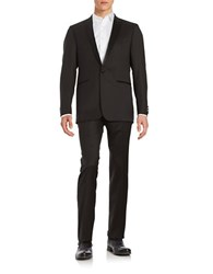 Calvin Klein Wool Two Button Suit Set Black