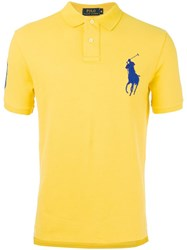 Polo Ralph Lauren Embroidered Logo Shirt Yellow Orange