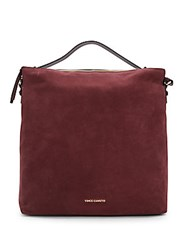 Vince Camuto Suede Hobo Handbag Dark Red