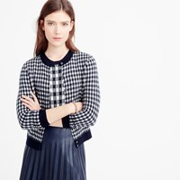 J.Crew Collection Featherweight Cashmere Cardigan Sweater In Gingham