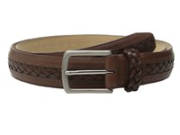 Tommy Bahama Braided Inlay W Braided Keeper Cognac Men's Belts Tan