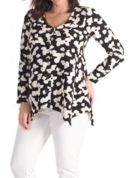 Chesca Abstract Jigsaw Jacket Black Ivory