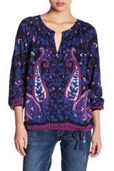 Lucky Brand Paisley Printed Blouse Multi