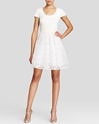 Tracy Reese Dress Cap Sleeve Fit And Flare White
