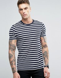 Asos T Shirt With Navy And White Stripes Navy White