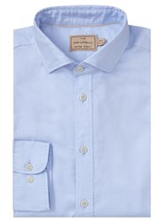 John Lewis And Co. Braiden Washed Cotton Tailored Fit Oxford Shirt Blue