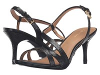 Calvin Klein Lorren Black Pearlized Stingray Print Leather Women's Dress Sandals