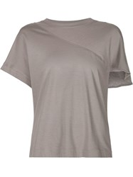 Alexandre Plokhov Split Sleeve T Shirt Grey