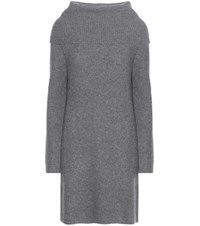 Polo Ralph Lauren Merino Wool And Cashmere Turtlenceck Sweater Dress Grey