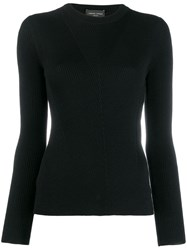 Roberto Collina Knitted Top Black