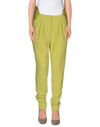 Gaetano Navarra Trousers Casual Trousers Women Acid Green