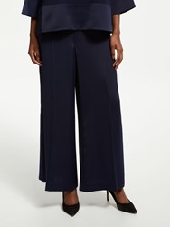 Bruce By Bruce Oldfield Satin Back Crepe Trousers Dark Sapphire