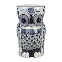 Pols Potten Blue Porcelain Flower Owl Stool