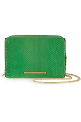 Roland Mouret Brick Python Shoulder Bag