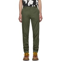 Burberry Green Shibden Chino Trousers