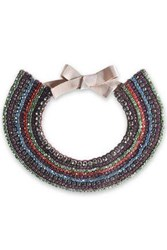 Valentino Crystal Bead And Satin Necklace Multicolor