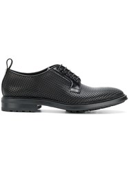 Emporio Armani Raised Detail Lace Up Shoes Calf Leather Leather Rubber Black