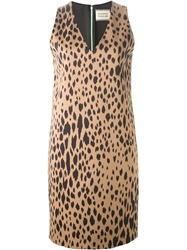 Fausto Puglisi Leopard Print Shift Dress Multicolour