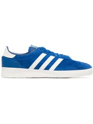 Adidas Blue And White Munchen Super Spzl Sneakers