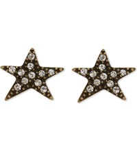 Marc Jacobs Paradise Stud Earrings Crystal Antique Gold