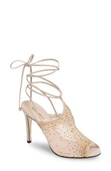 Klub Nico Women's Margeaux Embellished Wraparound Sandal Nude Leather