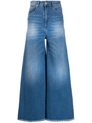 Federica Tosi Faded Wide Leg Jeans Blue