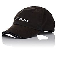 Vetements Saturday Weekday Cotton Cap Brown