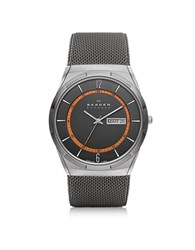 Skagen Melbye Gray And Orange Titanium Men's Watch