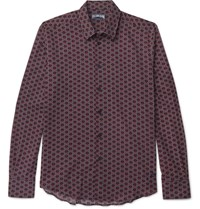 Vilebrequin Printed Cotton Voile Shirt Red