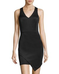 Catherine Malandrino Tulip Hem Sleeveless Scuba Dress Black