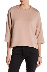 Heather By Bordeaux Boxy Pullover Pink