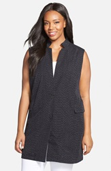 Eileen Fisher Long Organic Cotton Vest Plus Size Denim